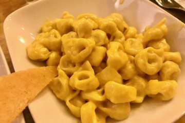 Tortellini zabaione parmigiano